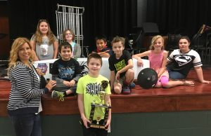 Brown Local students who built soap box derby cars are shown above. They include (standing): Melanie Koch, lead teacher, and Ryan Schoeppner. Middle row (from left): Tommy Poole and Derrick Richard. Back row: Isabella Evans, Madalyn Partain, Manny Walker, Eve Richard and Kathryn Poole. Not Pictured:Josh Eshelman, lead teacher.