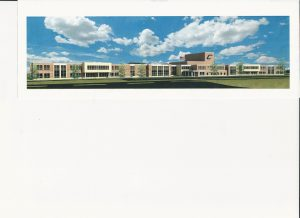 An architect's rendering of the new Carrollton high school/middle school.