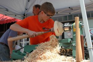 Buckeye Woodturners will be on hand at the Arts & Jazz Festival in Minerva to demonstrate their trade.