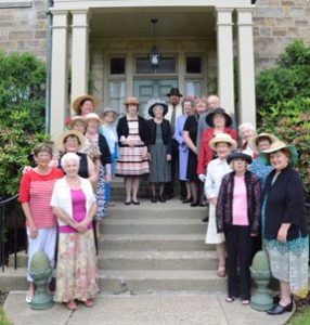 Members of the Carrollton Garden Club met June 5 to celebrate the club's 75th anniversary. Those in attendance are shown above. They include (clockwise from front left):Sonny Swartz,  Diane Patris, Ursula Lincoln, Ann Saltsman, Darlene Smith, Grace Fox, Shirley Campbell, Wanda Blanar, Jean Ondusko, Dale Fox, Ruth Ann Capper, Sherry Finzel, Earl Ferguson, Joyce Ferguson, Helen Schrader, Mary Huffman, Nellie Nye, Judy Eynon and Marvel Boggess.