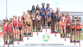 The Lady Lions 4x2 relay team took their place on the podium with a fifth place finish.