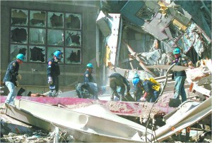 WTC Doak crew in rubble