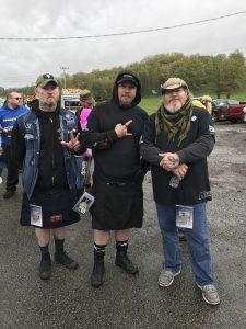 "Three veterans from northern Illinois participated in the SAVE22 hike Saturday morning. They are (from left): David Long, Dan Fessler and Jody ""Rooster"" Payne."